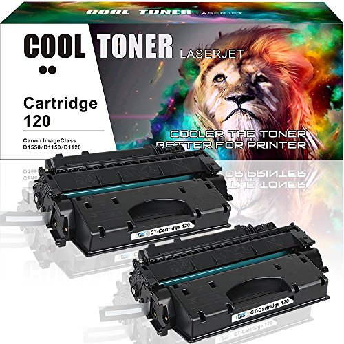 Cool Toner 2 Pack CRG-120 Cartridge 120 Toner Compatible for Canon 120 Canon Imageclass D1550 Canon Imageclass 1150 D1550 D1520 D1320 D1120 D1350 D1150 D1170 D1180 D1370 Canon D1550 Ink Toner Printer (120 Toner Black Cartridge)