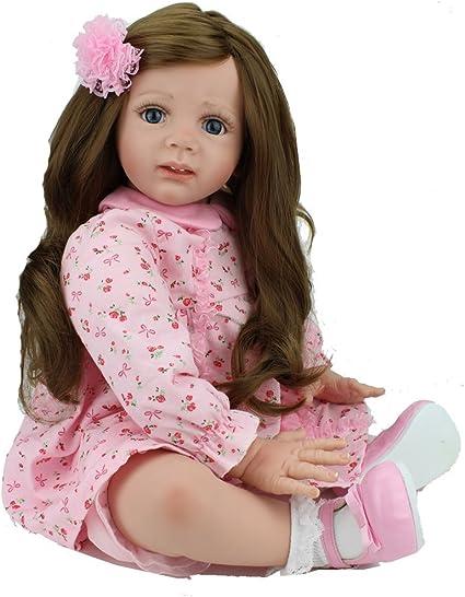 "24/"" Reborn Baby Dolls Handmade Toddler Girl Reborn Dolls Handmade Soft Body"