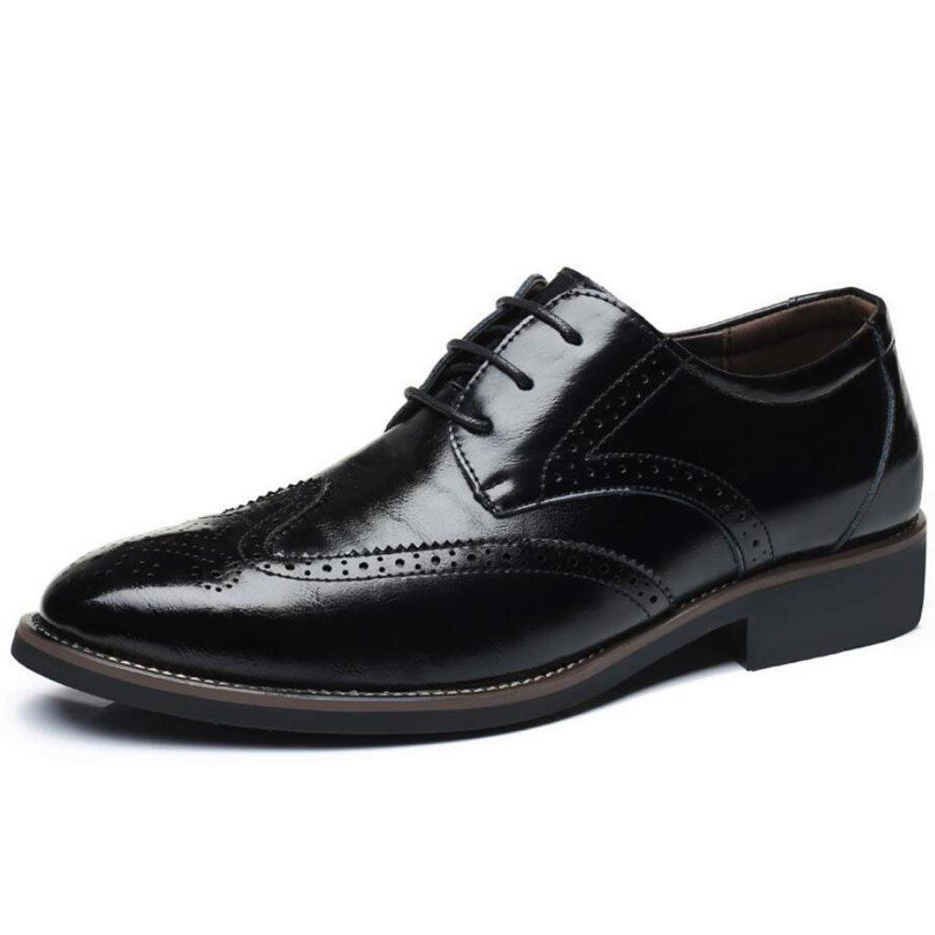GAOLIXIA Zapatos de cuero de los hombres Zapatos Bullock Zapatos casuales de moda Zapatos de vestir Trabajo Zapatos de carrera Banquete de boda de gran tamaño 38-48 (Color : Negro, tamaño : 47) 47|Negro