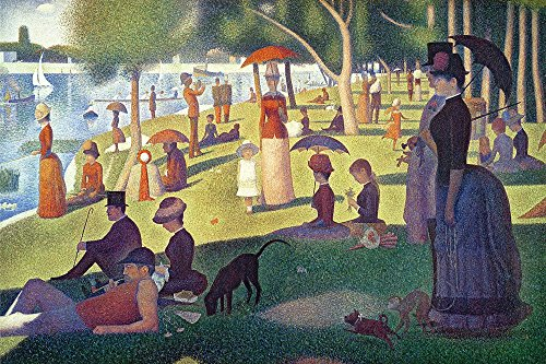 Sunday Afternoon on The Island of La Grande Jatte by Georges Seurat Art Print, 30 x 20 inches (A Sunday Afternoon On The Grande Jatte)
