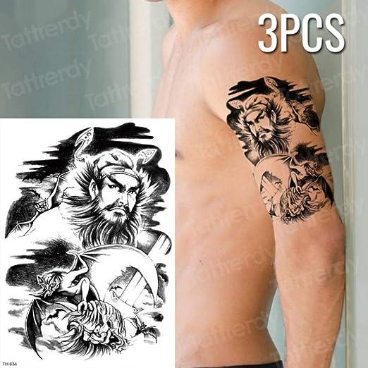 tzxdbh 3 Piezas/Etiqueta engomada del Tatuaje Pez Lotus Body ...
