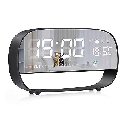 llq bedside clock touch based digital alarm clock 5 min snooze