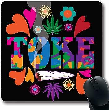 Luancrop Alfombrillas para Computadoras Quemando Hierba Años 60 Mod Drogas Psicodélico Abstracto Humo Púrpura Diseño Adicción Ganja Alfombrilla de ratón Antideslizante Oblong Gaming: Amazon.es: Electrónica