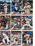 Atlanta Braves/Complete 2018 Topps Series 1 & 2 Baseball 20 Card Team Set! Includes 25 bonus Braves Cards!