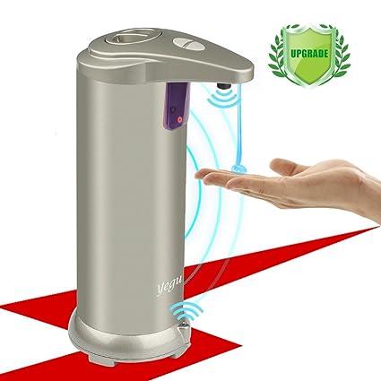 YEGU Dispensador de jabón automático infrarrojo, dispensador de jabón de acero inoxidable balayé par sonda