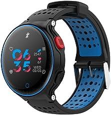 Lywey Fitness Tracker, X2 Sports Smart Watch - Reloj deportivo con monitor de presión arterial y ritmo cardíaco, resistente al agua, 24 horas en tiempo real para Android Xiaomi 8 SE Samsung para iPhone 6, 6S, 7, 8 Plus X