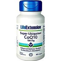 Life Extension , Super Ubiquinol CoQ10 (als Kaneka ) , 100 mg , 60 Kapseln , hochdosiert , ohne Gentechnik , ohne Magnesiumstearat , Coenzym Q10