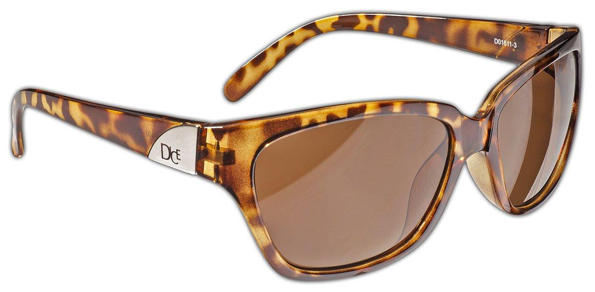 Dice Damen Sonnenbrille Dark Brown One Size D01611-4 DICEB|#Dice
