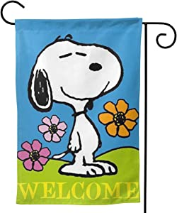 "Criss Garden Flag,Snoopy Welcome My Home Double Sided Outdoor Flag House Banner for Yard Home Decor 28""x40"" Inch Outdoor Deco"