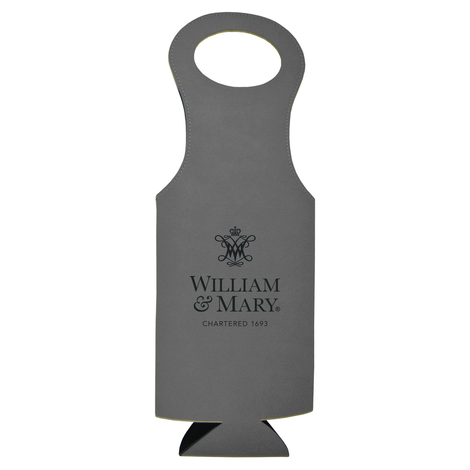 College of William & Mary-Velour Wine Tote-Grey