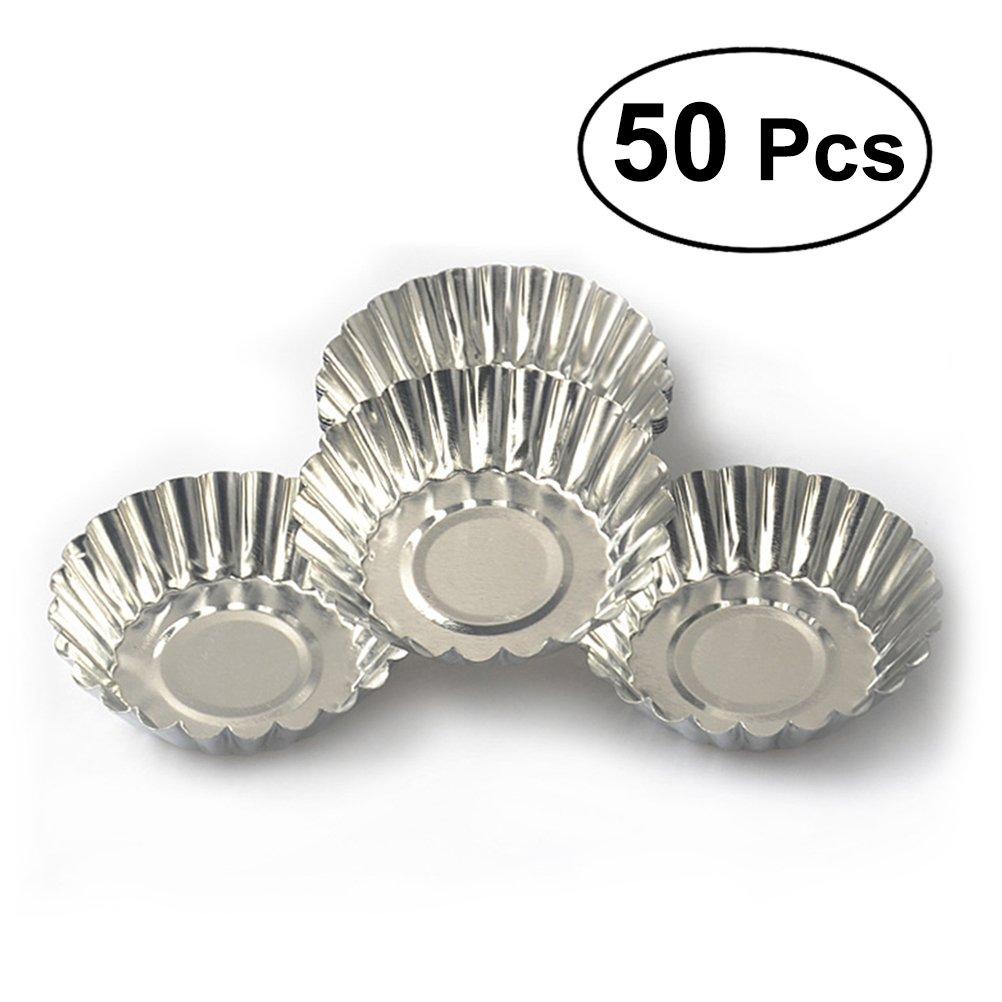 OUNONA 50 unids Tarta de huevo Antiadherente de Metal ...