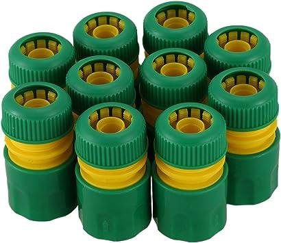 TOOGOO 10 Unids 1/2 Pulgada Manguera Jardín Agua del Grifo Manguera Conector de Conexión Rápida Adaptador Adaptador Riego: Amazon.es: Bricolaje y herramientas
