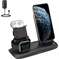 XDODD 3 in 1 Wireless Charging Stand for Latest Airpods iPhone and iWatch