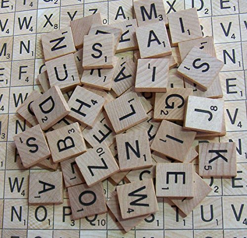 200 x Quality Wooden Scrabble Tiles Craft Jewellery Making Complete Set by Lizzy? by Bargains Online