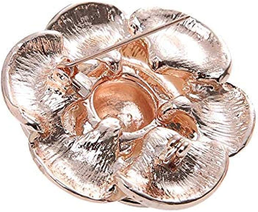 Alloy Water Drop Flower Brooch Brooch Cute Rhinestone Scarf Pin