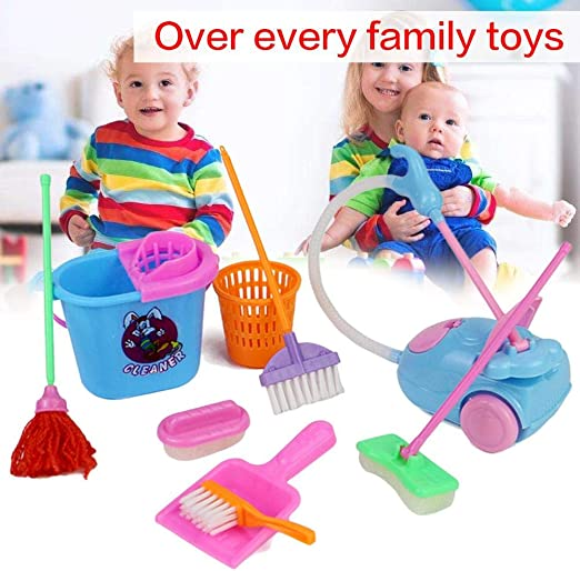 Juego de limpieza de escoba para niños, aspirador para niños, 9 ...