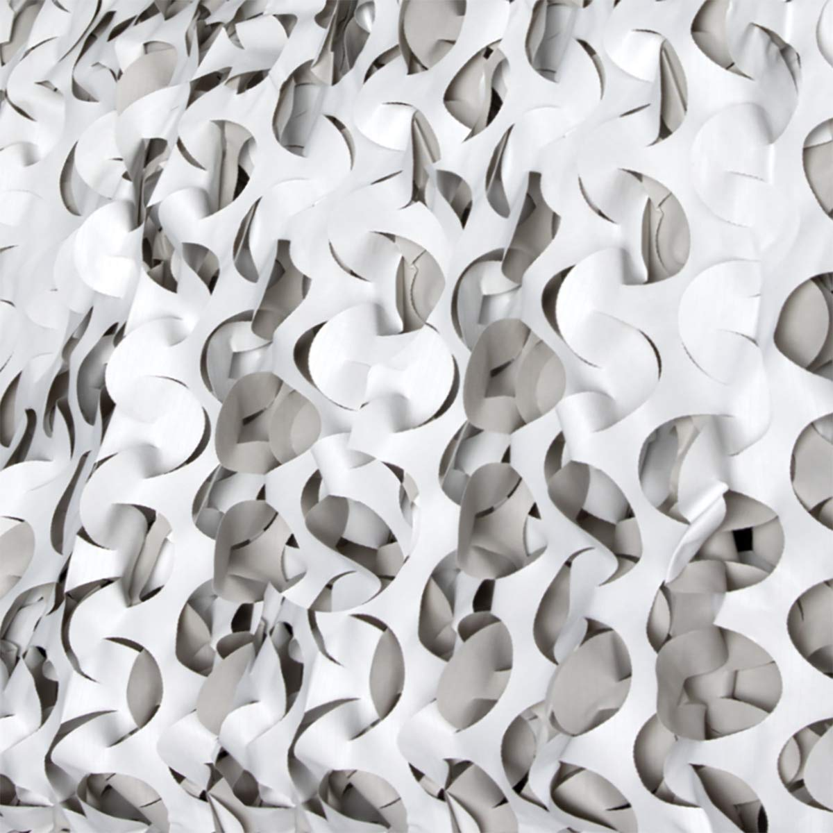 CamoSystems Premium Series Ultra-lite Military Spec Camouflage Netting, Bulk Available, Snow - White/Light Gray