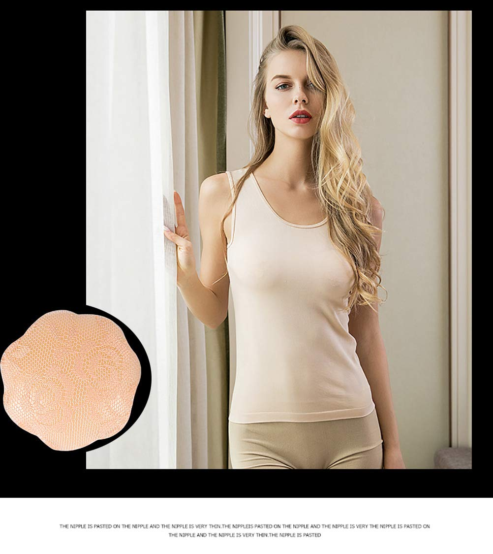 4 Pairs- Pasties for Women,Nipple Covers Reusable Invisible Self-Adhesive Silicone Womens Breast Pasties-4/6 Pairs (2 Pairs Black+2 Pairs Nude) by Venlency (Image #6)