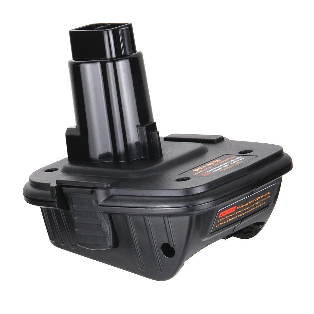 Bingogous DCA1820 Battery Adapter for Dewalt 18V Tools, Convert Dewalt 20V Battery to DC9096 DE9096 DC9098 DC9099 DW9099 18V Battery