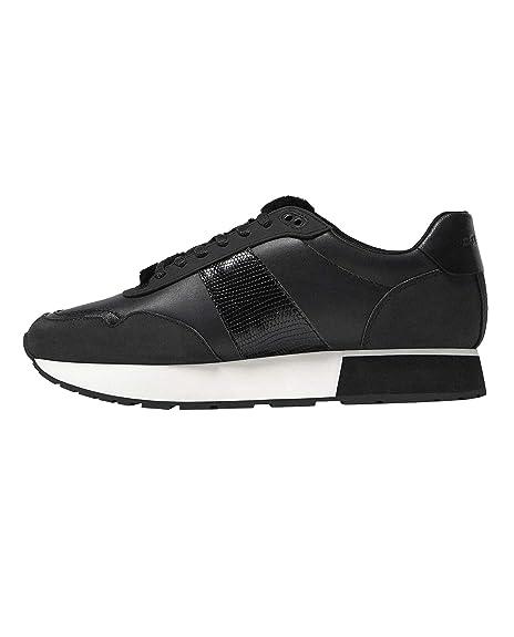 Massimo Dutti - Zapatillas de Cuero para Mujer Negro Negro, Color Negro, Talla 42: Amazon.es: Zapatos y complementos