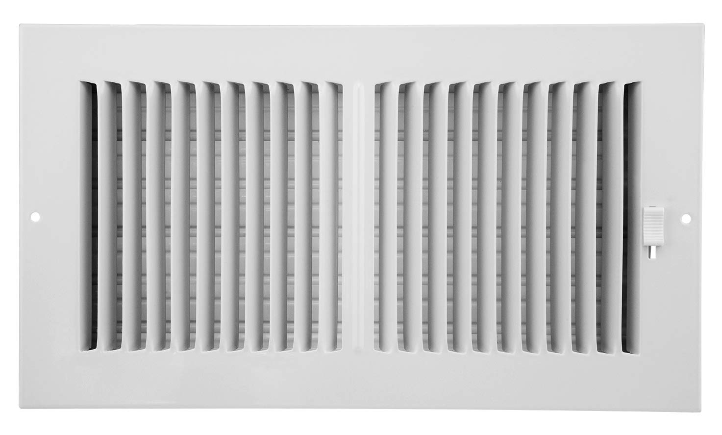 Accord AASWWH2126 Sidewall/Ceiling Register with 2-Way Aluminum Design, 12-Inch x 6-Inch(Duct Opening Measurements), White