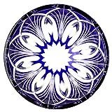 Edo Kiriko Japanese Sake Cup Guinomi Cut Glass Temari Decorative Hand Balls Motif - Blue [Japanese Crafts Sakura]