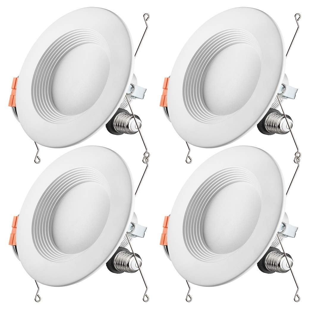 Otronics 5/6 Inch Dimmable LED Recessed Light Fixture,15W(100w Replacement) 1100 Lumens(CRI90) Daylight 5000k,LED Downlight Retrofit Kit,Energy Star UL-Listed,Pack of 4