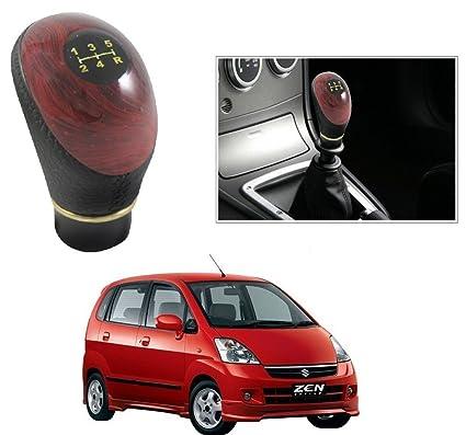 Autostark Black And Wood Gear Knob Gear Shift Knob For Maruti Suzuki