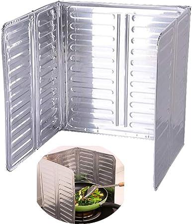 Jungen Pieghevole Paraschizzi Per Cucina Placca Antischizzo Deflettore Alluminio Proteggere Pareti Fornello Pavimenti D Olio Schizzi Amazon It Casa E Cucina