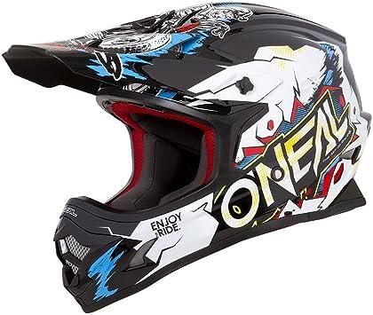 Bianco ONeal Oneal 3series Villain Casco da Motocross 2019