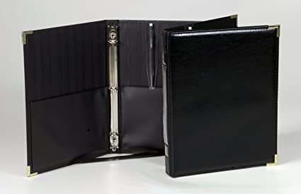 Marlo Plastics Premium Concert Choral Folder 9-1/4 x 12 with 3-ring binder  - Black (Original Version)