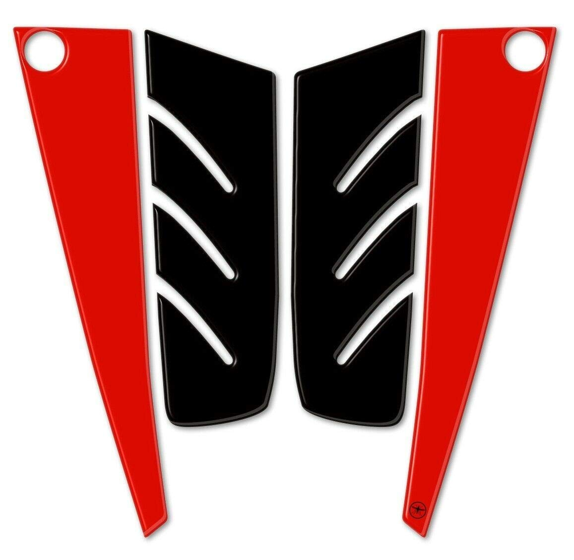 Imitaci/ón Carbono Adhesivo Resina 3D Estribo Delantero Tmax 530 Stickers para Yamaha T MAX 2012-16
