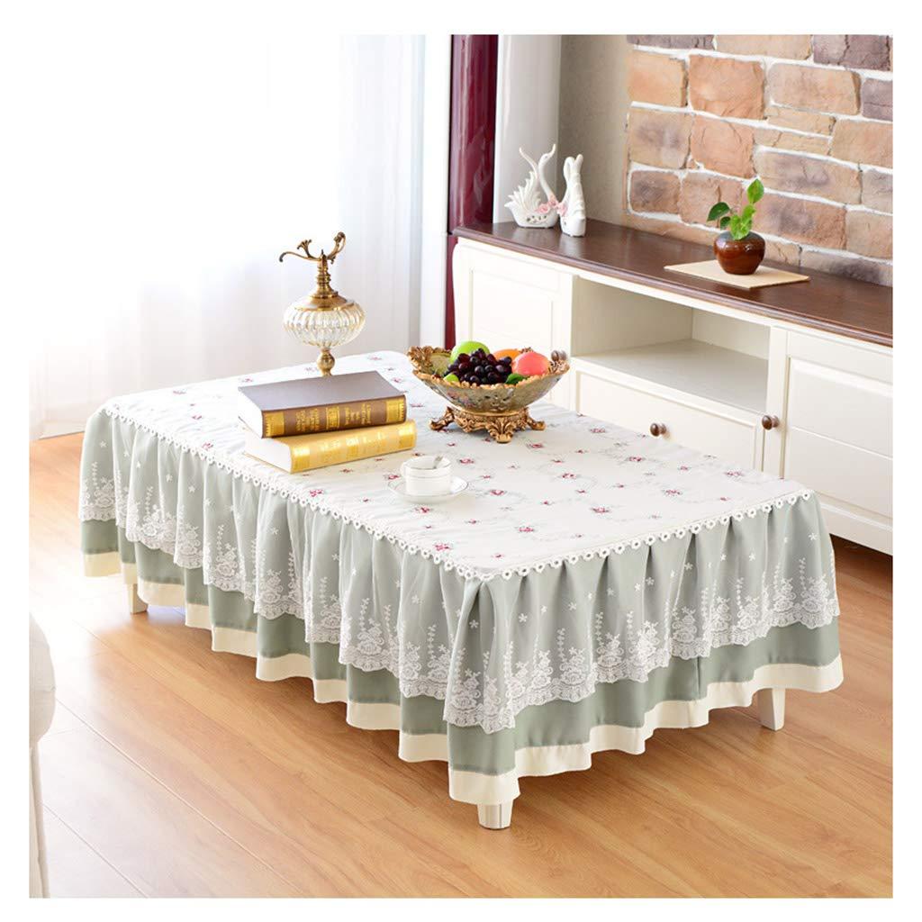 ラウンドテーブルクロス テーブルクロス - 長方形の小さな新鮮なお茶テーブルカバーリビングルームのレースのテーブルクロス テーブルクロス (サイズ さいず : 90*150cm) 90*150cm  B07RWYN412