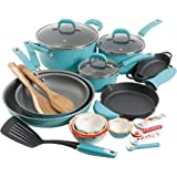 The Pioneer Woman Vintage Speckle 24-Piece Cookware Combo Set, Turquoise