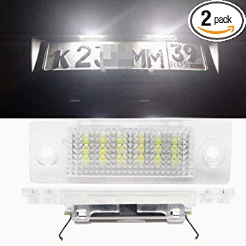 VW T5 TRANSPORTER LED XENON COOL WHITE Number Plate LIGHT Bulbs ERROR FREE CADDY
