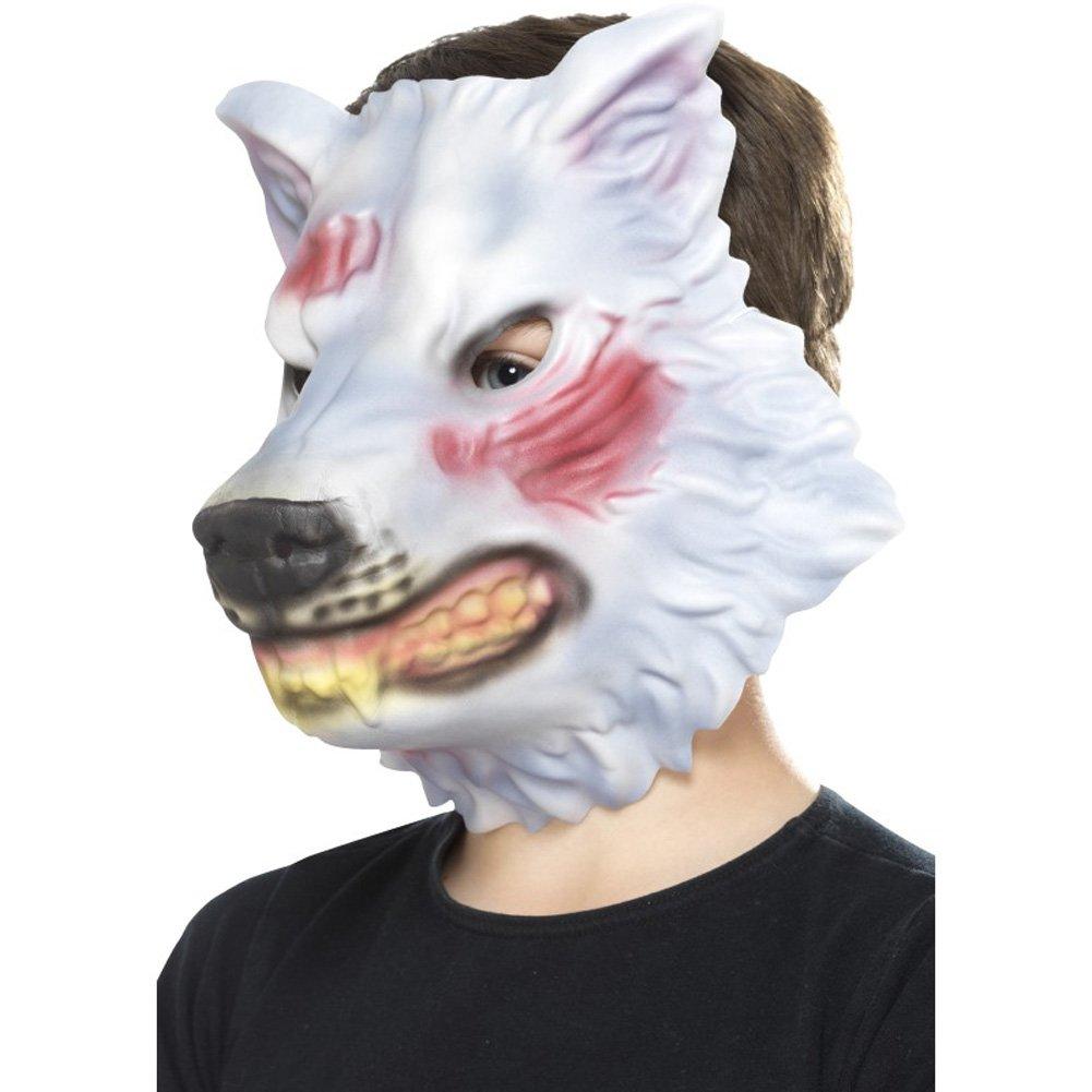 Máscara de Lobo 46977 (Talla única) Smiffy s: Amazon.es: Juguetes y juegos