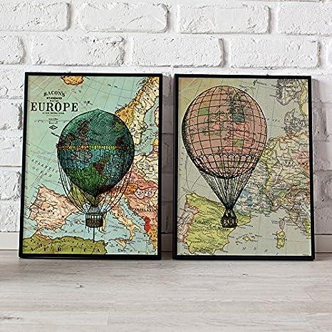 Nacnic Pack de láminas Globos. Posters con imágenes de Globos y ...