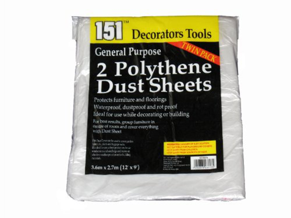 General Purpose 2 Polythene Dust Sheets, tool 151 1511075