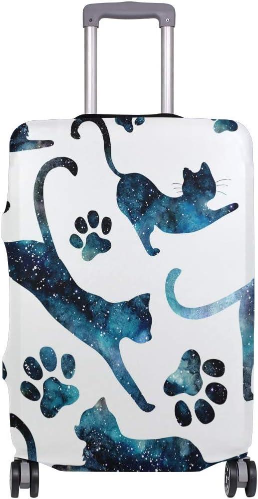 - suitcasecover Multicolore Orediy Housse de Protection /élastique pour Valise Motif Chats Volants et Empreintes de Pattes Multicolore