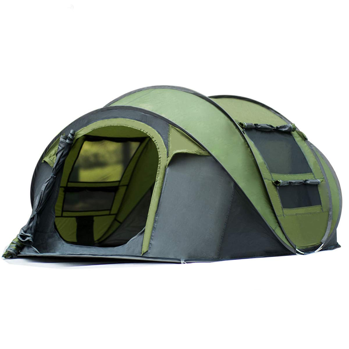 Qisan 20% automatisches im Freien kampierendes werfendes Zelt-Pop-upzelt für Wasserdichte schnell-öffnende Zelte 4 Personen-Überdachung mit der tragenden Tasche einfach, Grün zu gründen