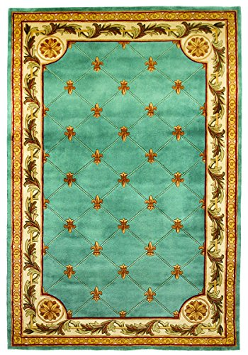 KAS Oriental Rugs Jewel Collection Wedgewood Fleur-De-Lis Ar