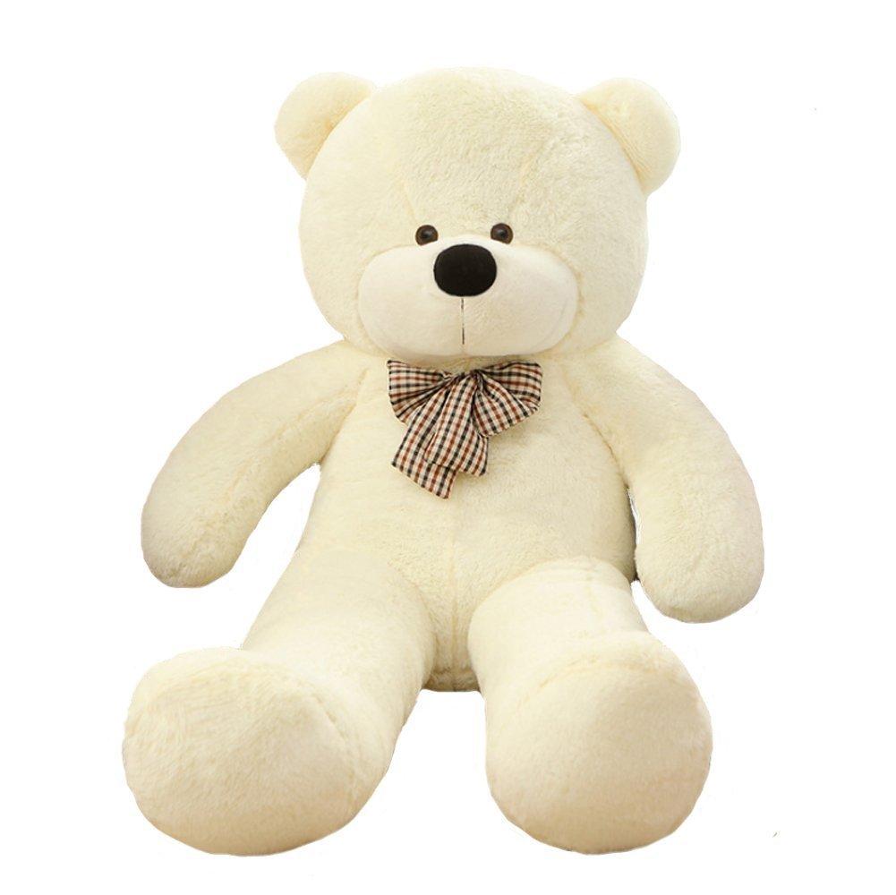 Blanc 120CM VERvoitureT Grand Nounours Ours Bcourir Enorme Peluche Doudou Doux Cadeau pour Fille Garçon 200cm