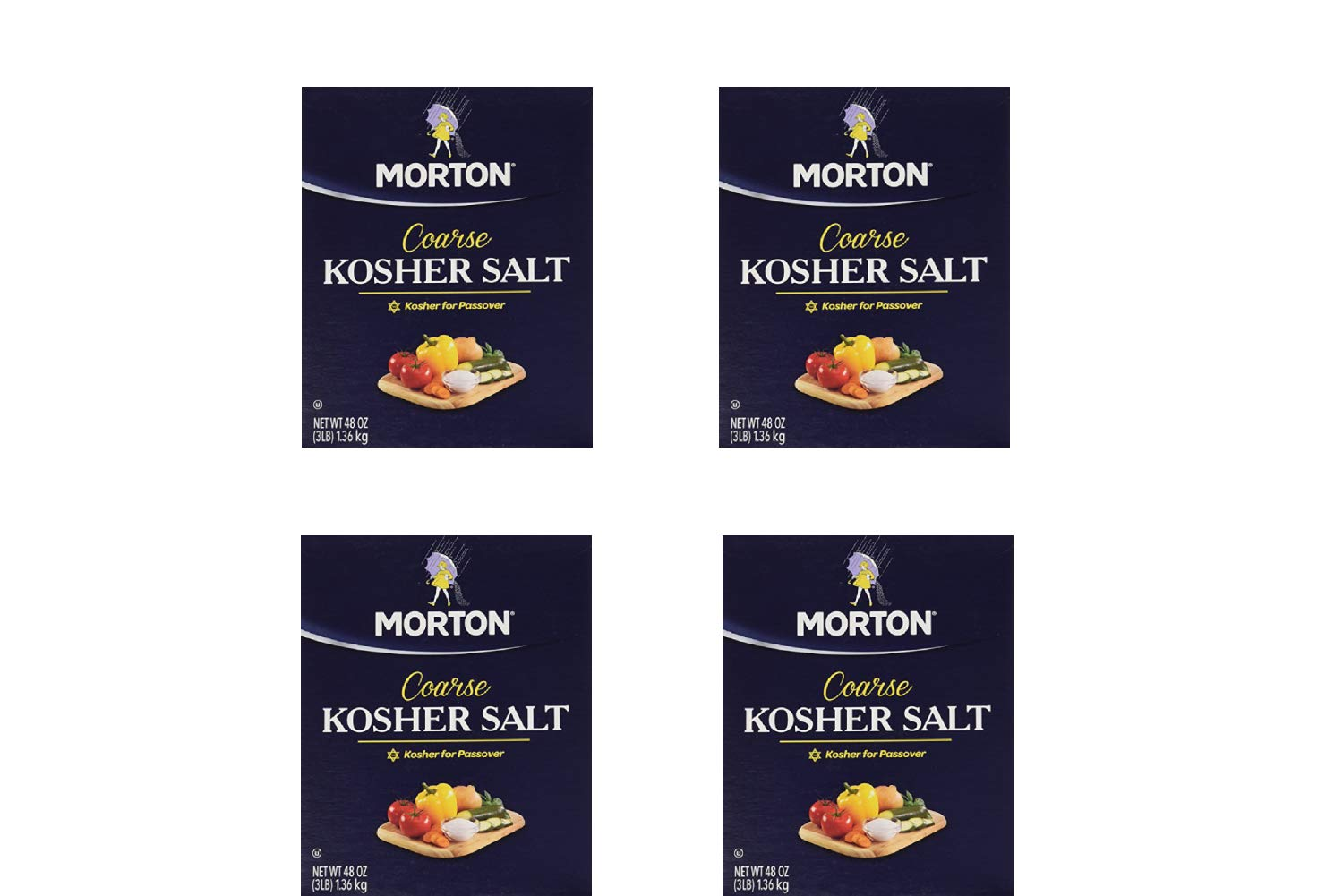 Morton Salt Kosher Salt, 48 Ounces (4 Pack)