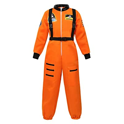 jutrisujo Astronaut Costume for Kids Space Suit Boys Girls Teens Toddlers Children's Role Play Cosplay: Clothing
