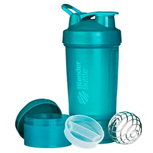 BlenderBottle ProStak System with 22-Ounce Bottle and Twist n' Lock Storage, Teal