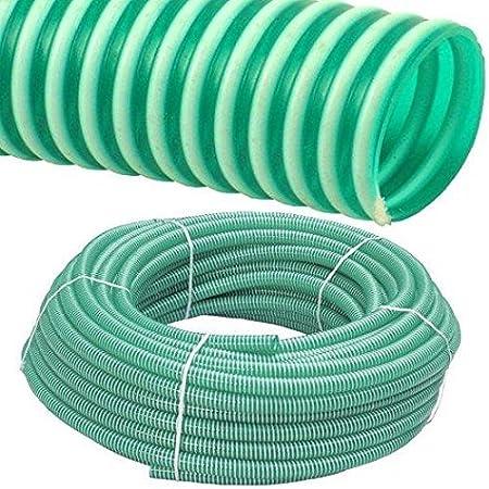1 1//4 Zoll // 32 x 2.7mm Spiralschlauch PVC Druckschlauch und Saugschlauch 50 Meter Rolle 1//2 bis 1 1//2 Zoll