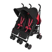 Maclaren T-01 Twin Stroller, Black Redstone