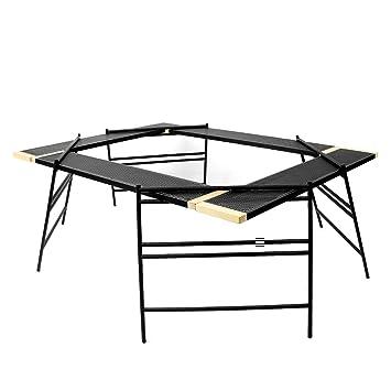 QNMM Mesa de Camping Plegable de Aluminio Liviana, fácil de ...