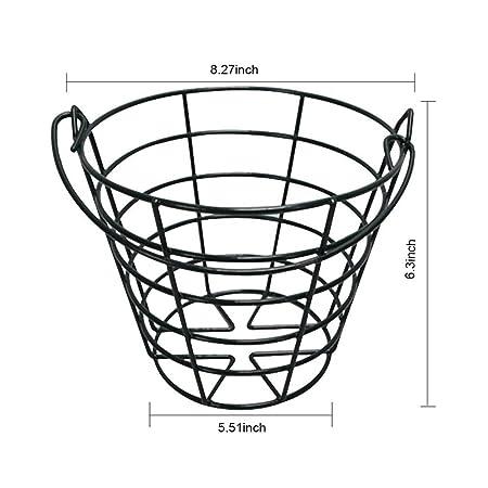 Amazon Com Pgm Crestgolf Metal Golf Basket Golfball Container