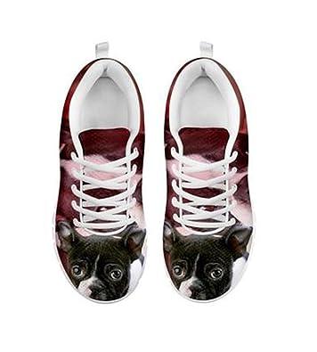 Boston Terrier And French Bulldog Friends Men Lightweight Walking Shoes Casual Sports Running Shoe Fashion